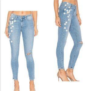 PAIGE Brigitte Denim Studded Daisy Jeans Pants 29